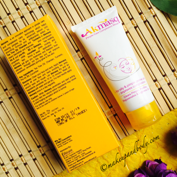 Akmasq Pimple Care Complexion Mask Review