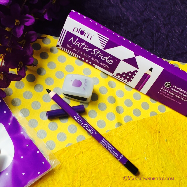 Plum Natur Studio All Day Wear Kohl Kajal in Black, Review and Swatches
