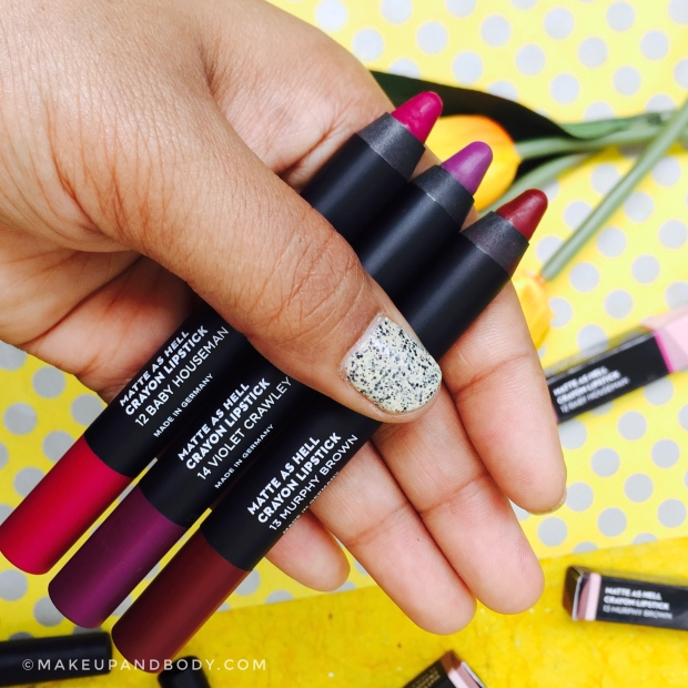 Sugar Matte As Hell Crayon Lipsticks - 3 New shades | Review and Swatches