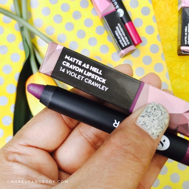 Sugar Matte As Hell Crayon Lipstick 14 VIOLET CRAWLEY